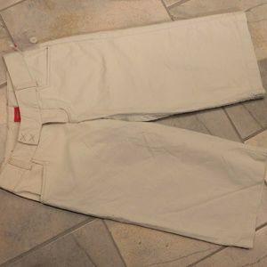 Mossimo Khaki/ Tan/ Beige Cotton Twill Shorts 1